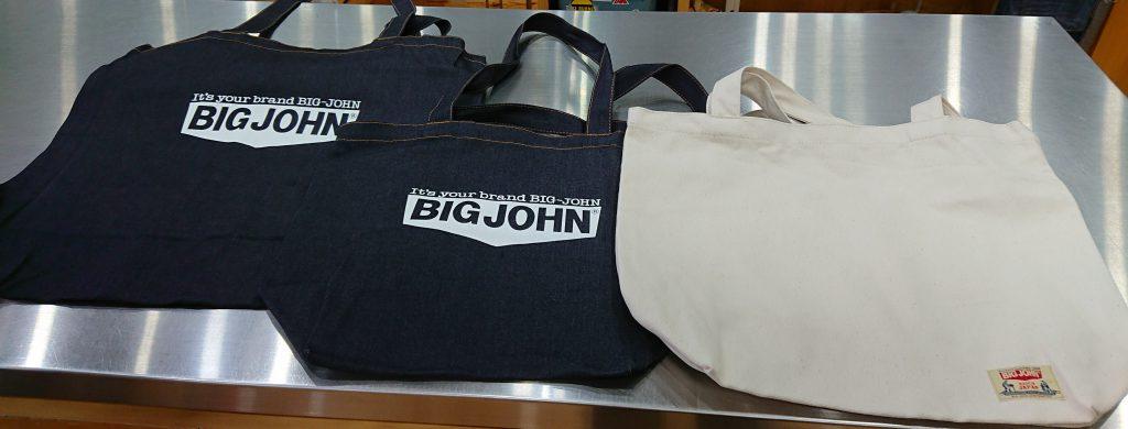 福山ビッグアメリカンショップ新涯店 BIG JOHN(ビッグジョン)ノベルティーキャンペーンオリジナルデニムトートバッグ