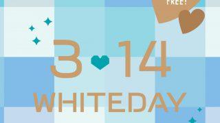 『 3.14WHITE DAY(ホワイトデー)!』大切な人や友達・同僚へ無料ラッピングフェアー